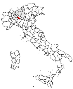 Location of Province of Lodi