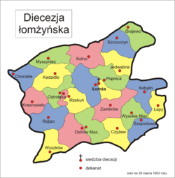 The map of diocese