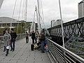 London, band on Golden Jubilee Bridge - geograph.org.uk - 1046424.jpg