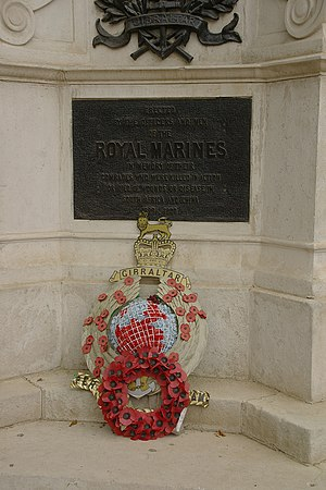 Royal Marines Memorial - The monument in 2009