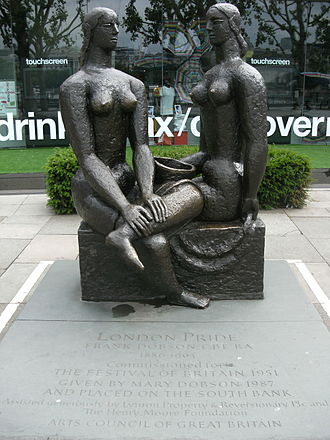 Frank Dobson (sculptor) - ''London Pride'' outside the National Theatre, London