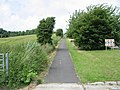 Looking N along path and cycle track towards Hawkinge - geograph.org.uk - 852122.jpg