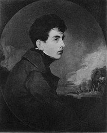 Incisione ritraente un giovane Lord Byron, giugno 1804