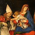 Lorenzo lotto, madonna col bambino tra i ss. ignazio di antiochia e onofrio, 1508, 03.jpg