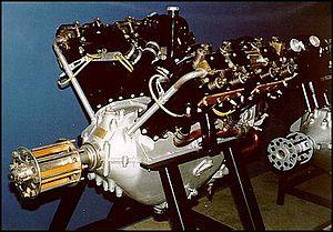 Lorraine-Dietrich - Lorraine-Dietrich 8Be aircraft engine.
