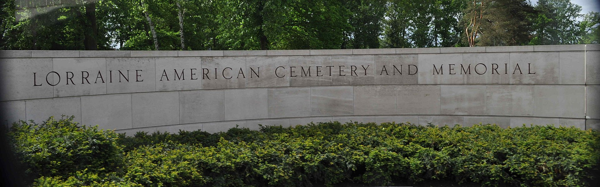 Lorraine American Military Cemetery, entrance sign
