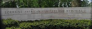 Lorraine American Cemetery and Memorial - Image: Lorraine American Cemetery sign DSC 0537