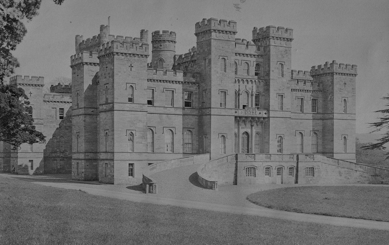 black and white image of Loudoun Castle