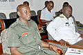 Lt. Col. David Banoenuma Bangsiibu, acting director of Religious Affairs, Ghana Armed Forces (left) and Commodore Geoffrey Mawule Biekro.jpg