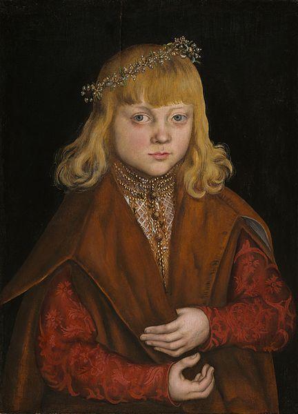 CRANACH, Lucas A Prince of Saxony 1517