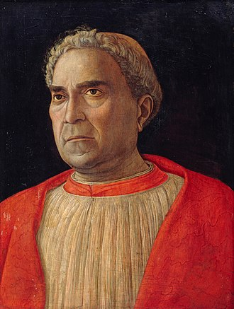 Ludovico Trevisan - Portrait of Ludovico Trevisan, painted by Andrea Mantegna soon after Trevisan's return to Italy in 1459