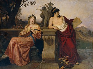 Allegorie auf Musik und Malerei