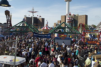 Luna Park, Coney Island (2010) - Luna Park during its opening weekend in 2010