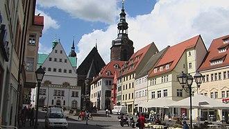 Eisleben - Image: Lutherstadt Eisleben Markt