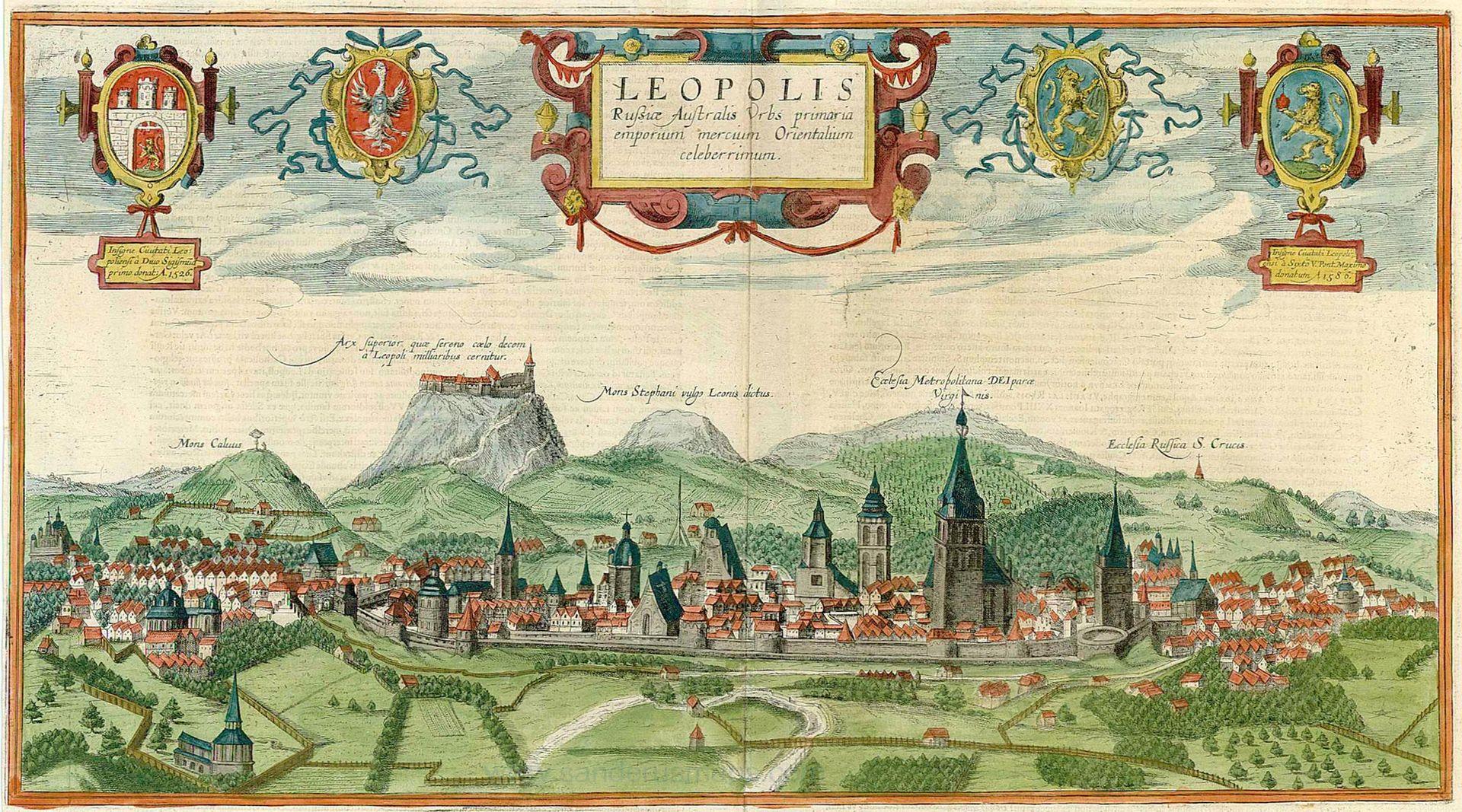 Стара мапа Львова