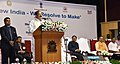 M. Venkaiah Naidu addressing the gathering at an event 'New India – Resolve to Make', organised by the Ministry of Parliamentary Affairs and DAVP (1).jpg