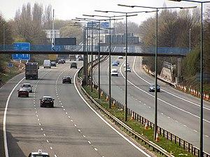 M602 motorway - Image: M602 leaving Manchester geograph.org.uk 1801316