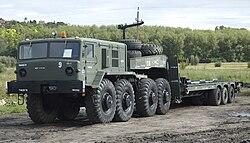 MAZ–537G vontató a Zamárdi Hadiparkban