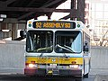 MBTA route 92 bus at Sullivan Square station, December 2016.jpg