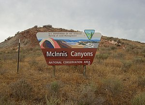 McInnis Canyons National Conservation Area - Image: MCNCA Sign