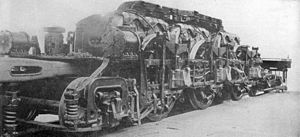 Milwaukee Road class EP-3 - One of the Quill's two frame and motor assemblies