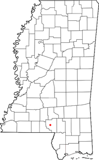 Location of Foxworth, Mississippi