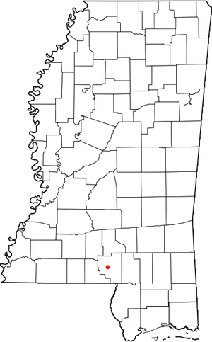 Foxworth, Mississippi - Location of Foxworth, Mississippi
