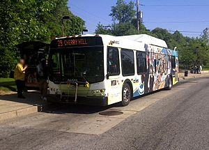 MTA Route 29 bus at the Cherry Hill Light Rail Station