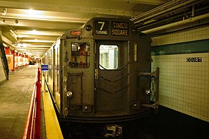 R12 (New York City Subway car) - R12 car 5760 on display at the New York Transit Museum