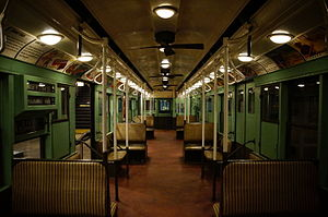R4 (New York City Subway car) - Image: MTA NYC R4 484 interior