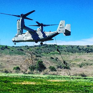 VMM-161 - Conducting Fastrope operation on MCAS Camp Pendleton in 2016