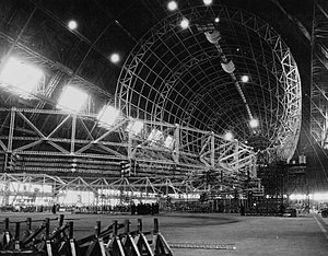 USS Macon (ZRS-5) - Macon under construction at the Goodyear Airdock