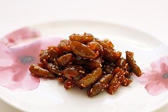 Jangajji - Image: Maesiljangajji (pickled plum)