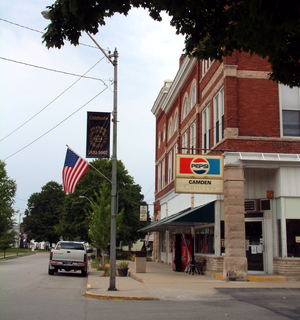 Camden, Indiana - Looking west along Main Street in Camden