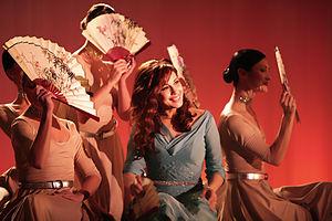 "Majida El Roumi - El Roumi during the making of ""E'tazalt El Gharam"" directed by Nadine Labaki in 2006."