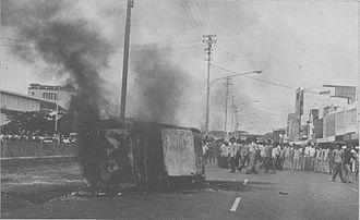Malari incident - Image: Malari Riots Jakarta 1