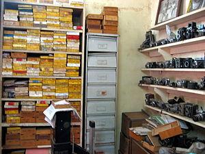 Malick Sidibé - Sidibé's negative collection, in his studio in Bamako