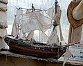 Man-of-war two deck frigate model at Ashfold Crossways, in Lower Beeding, West Sussex.jpg