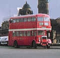Manchester Corporation bus Leyland Titan Metro Cammell, Manchester Piccadilly station, 18 April 1970.jpg