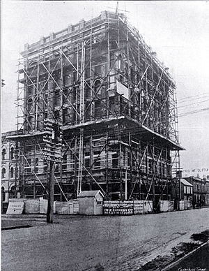 Manchester Courts - Manchester Courts under construction in 1906