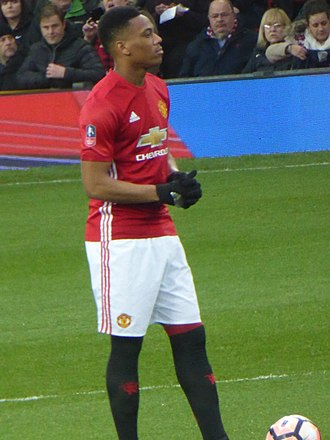 Anthony Martial - Martial playing for Manchester United in 2017