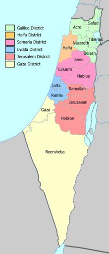 Districts of Mandatory Palestine Wikipedia