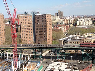 Manhattanville, Manhattan - Columbia University construction near the 125th Street station