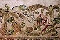 Manifattura forse fiorentina, paliotto della madonna del letto, raso, seta, oro e argento, 1601, da museo del ricamo di pistoia 07, uccello, grano, lumaca.jpg