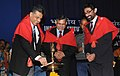 Manish Tewari lighting the lamp at the 45th Annual Convocation of the Indian Institute of Mass Communication (IIMC), in New Delhi. The Secretary, Ministry of Information & Broadcasting, Shri Uday Kumar Verma is also seen.jpg