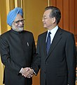 Manmohan Singh at a bilateral meeting with the Premier of the State Council of People's Republic of China, Mr. Wen Jiabao, on the sidelines of the 17th ASEAN Summit and Related Summits to be held in Hanoi, Vietnam (1).jpg
