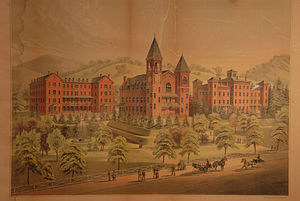 Mansfield University of Pennsylvania - Postcard of Mansfield Normal School in the 1890s