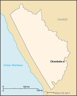 Damaraland - Map of the bantustan.