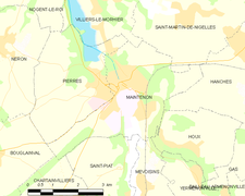 Carte de la commune de Maintenon.