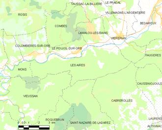 Les Aires - Map